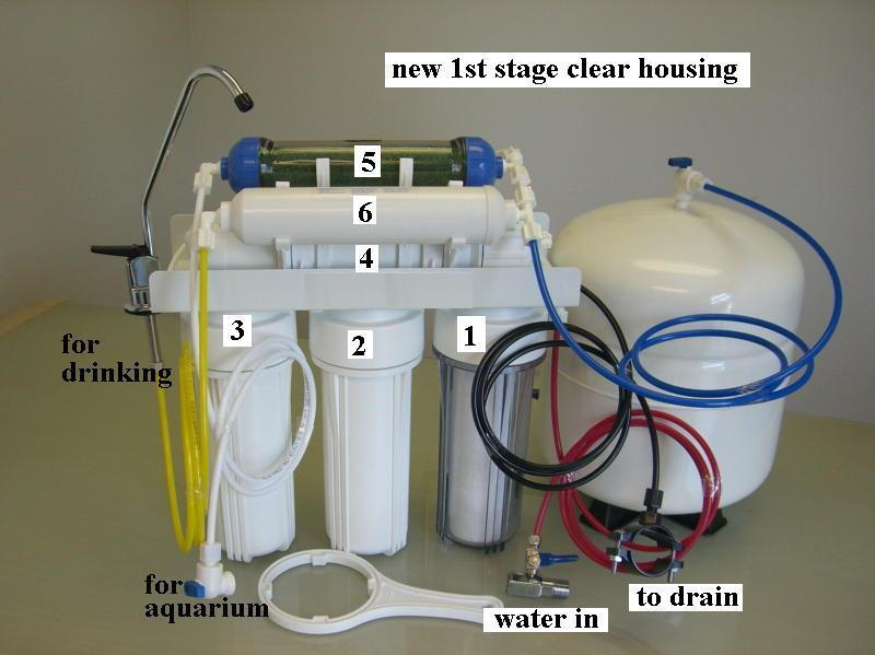 reef u0026 home drinking rodi dual output reverse osmosis pure water filter system ebay - Reverse Osmosis Water Filter